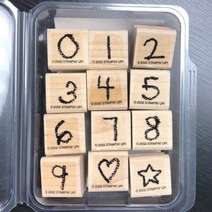 "Stampin' Up! ""Crayon Fun Alphabet Numbers"" Set"